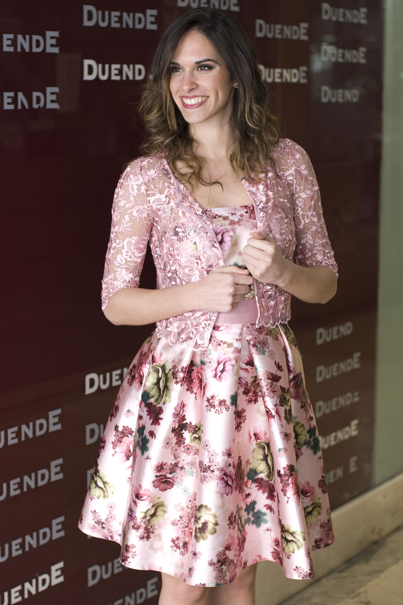 Fantástico Vestido De Fiesta Estampado Floral Componente - Ideas de ...