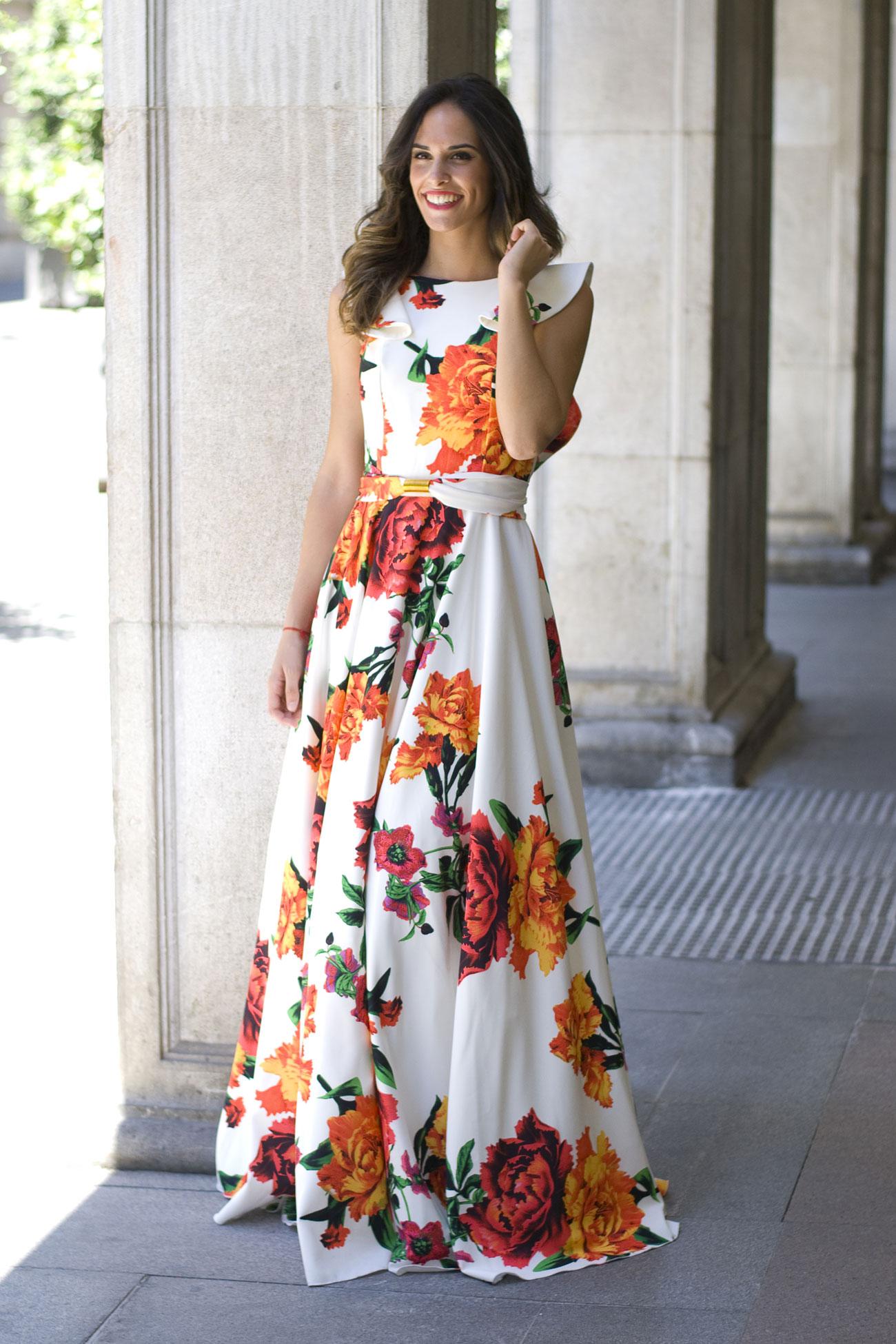 Vestidos largos estampados con flores