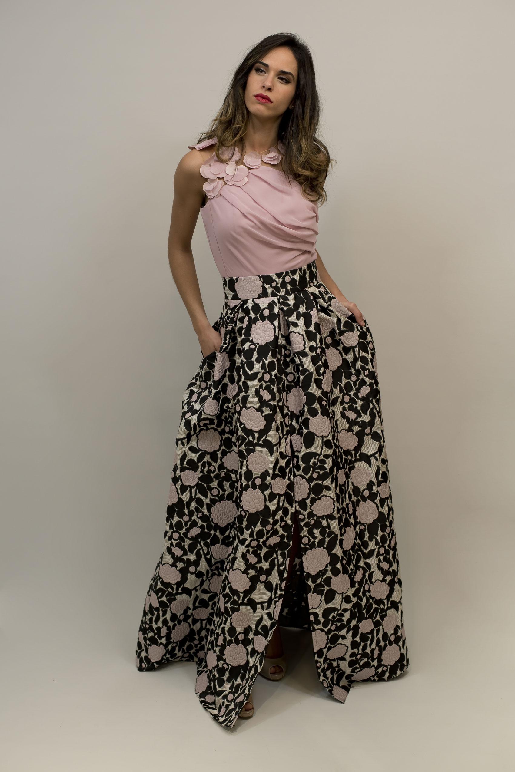 Vestidos de fiesta camisa y falda larga