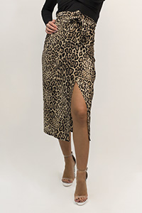 FALDA PAREO MIDI ANIMAL PRINT